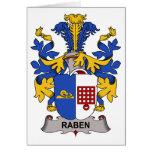 Escudo de la familia de Raben Tarjeta