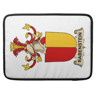Escudo de la familia de Rabenstein Funda Macbook Pro