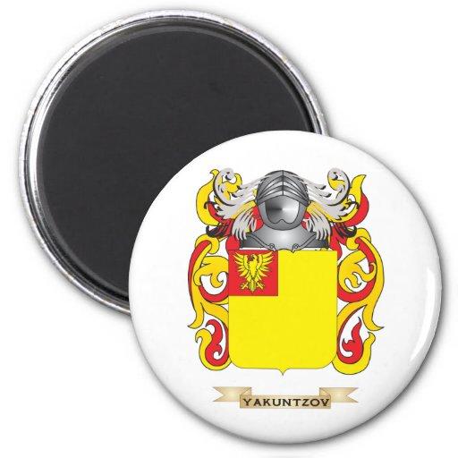Escudo de la familia de RachelYakuntzov (escudo de Imán Redondo 5 Cm