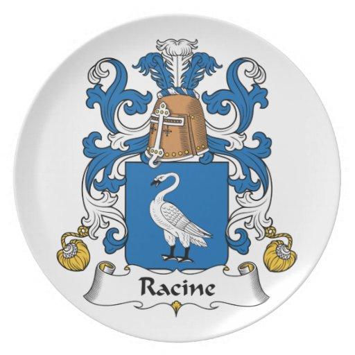 Escudo de la familia de Racine Platos