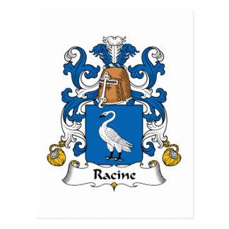 Escudo de la familia de Racine Tarjeta Postal