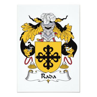 """Escudo de la familia de Rada Invitación 5"""" X 7"""""""