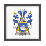Escudo de la familia de Radeke Caja De Recuerdo De Calidad