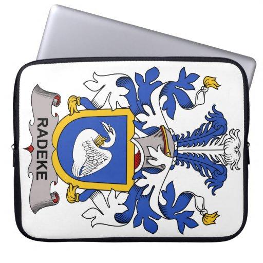 Escudo de la familia de Radeke Fundas Portátiles