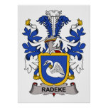 Escudo de la familia de Radeke Impresiones