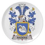 Escudo de la familia de Radeke Plato Para Fiesta