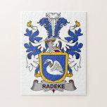 Escudo de la familia de Radeke Rompecabeza Con Fotos