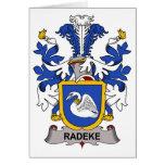 Escudo de la familia de Radeke Tarjetón
