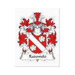 Escudo de la familia de Radoniski Impresion De Lienzo
