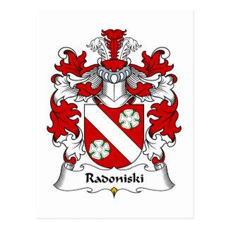 Escudo de la familia de Radoniski Tarjetas Postales