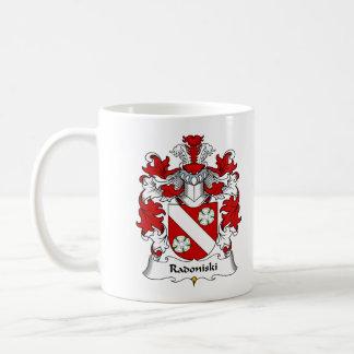 Escudo de la familia de Radoniski Taza De Café