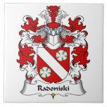Escudo de la familia de Radoniski Tejas Cerámicas