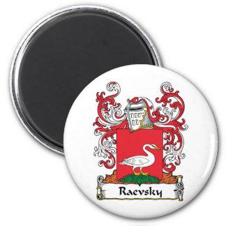 Escudo de la familia de Raevsky Imán Redondo 5 Cm