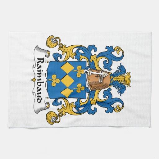 Escudo de la familia de Raimbaud Toallas De Cocina