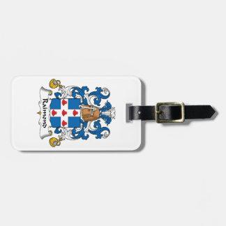 Escudo de la familia de Raimond Etiquetas De Equipaje