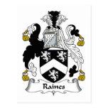 Escudo de la familia de Raines Postales