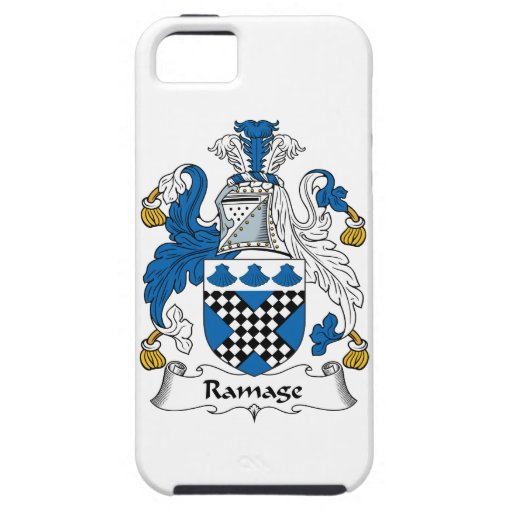 Escudo de la familia de Ramage iPhone 5 Case-Mate Cárcasa