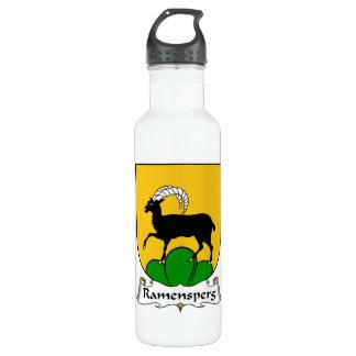Escudo de la familia de Ramensperg Botella De Agua De Acero Inoxidable