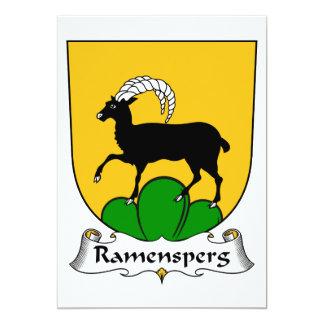 Escudo de la familia de Ramensperg Invitaciones Personalizada