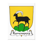 Escudo de la familia de Ramensperg Lona Envuelta Para Galerias