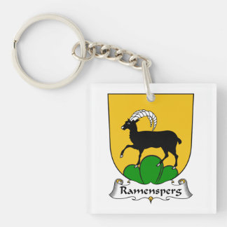 Escudo de la familia de Ramensperg Llavero Cuadrado Acrílico A Una Cara