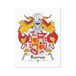 Escudo de la familia de Ramos Impresión En Lona