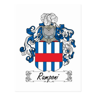 Escudo de la familia de Ramponi Postal