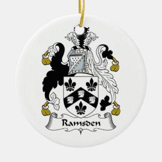 Escudo de la familia de Ramsden Adorno Redondo De Cerámica