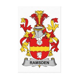 Escudo de la familia de Ramsden Lona Estirada Galerías