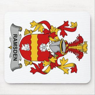 Escudo de la familia de Ramsden Tapetes De Ratones