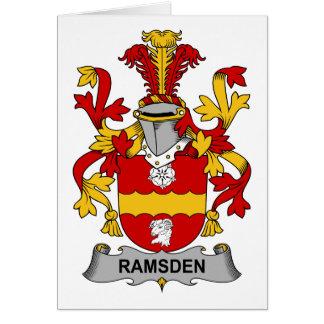 Escudo de la familia de Ramsden Felicitación