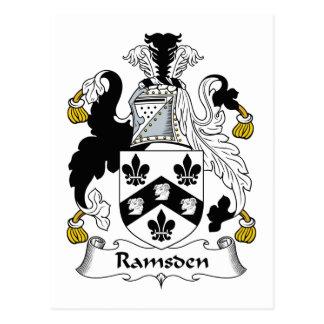 Escudo de la familia de Ramsden Postal