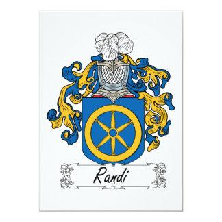Escudo de la familia de Randi Comunicado Personal