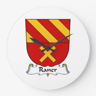 Escudo de la familia de Raner Reloj De Pared
