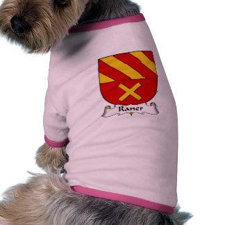 Escudo de la familia de Raner Camisetas Mascota
