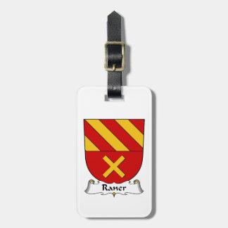 Escudo de la familia de Raner Etiquetas De Equipaje