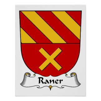 Escudo de la familia de Raner Posters