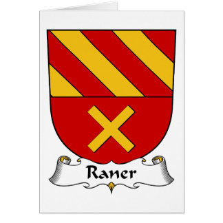 Escudo de la familia de Raner Tarjeta