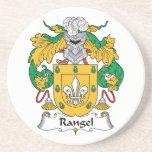 Escudo de la familia de Rangel Posavasos Manualidades