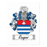 Escudo de la familia de Rangoni Tarjeta Postal