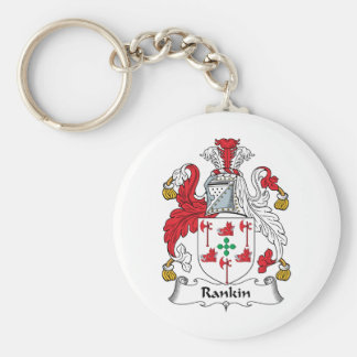 Escudo de la familia de Rankin Llavero Redondo Tipo Pin