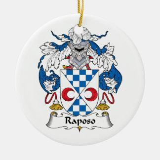 Escudo de la familia de Raposo Adorno Redondo De Cerámica