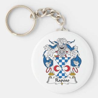Escudo de la familia de Raposo Llavero Redondo Tipo Pin