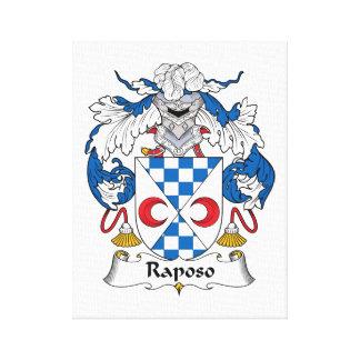 Escudo de la familia de Raposo Lona Estirada Galerías