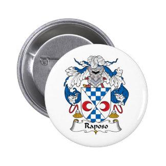 Escudo de la familia de Raposo Pin Redondo 5 Cm