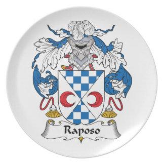 Escudo de la familia de Raposo Plato De Comida