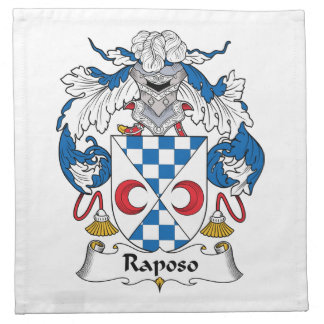 Escudo de la familia de Raposo Servilleta De Papel