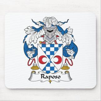 Escudo de la familia de Raposo Tapetes De Ratones