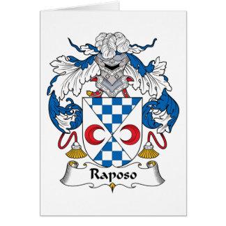 Escudo de la familia de Raposo Tarjeta De Felicitación