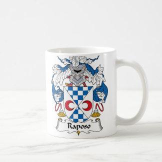Escudo de la familia de Raposo Taza Básica Blanca